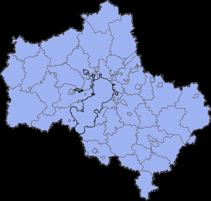 Районы обслуживания
